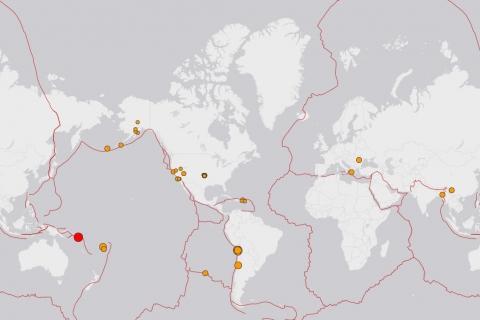 EXCLUSIVO: Mira el mapa de sismos en el mundo en las últimas horas