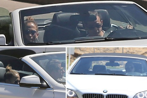 Captan a Jennifer Lopez con su ex pareja