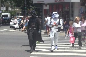 Darth Vader y Luke generan disturbios en Argentina