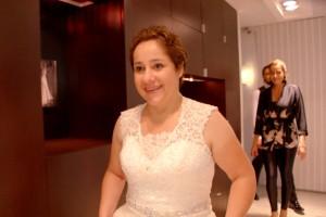 Cecilia dio con el vestido ideal para su boda
