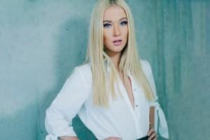 ¡Vesta Lugg sorprendió con cabello verde!