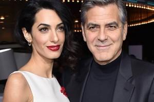 Amal Clooney deslumbró en su primera aparición tras convertirse en madre