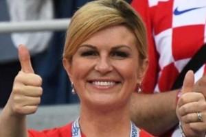 Presidenta de Croacia en la palestra por fotos