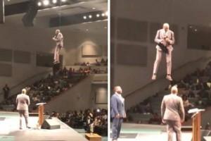 [VIDEO] Pastor evangélico entra